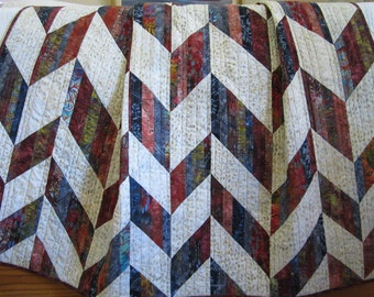 Homemade Quilt, Batik Quilt, Lap Quilt, Throw Quilt, Sofa Quilt, Patchwork Quilt, Pieced Quilt, home decor