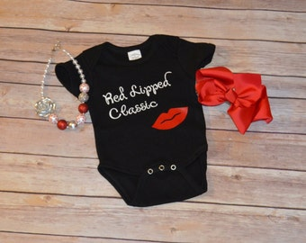 Red Lipped Classic Onesie or Tee