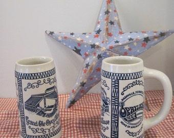 Pair of Opryland Beer Mugs, Nashville Souvenier Mugs