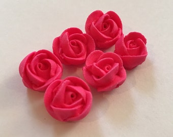 Lot of 100 hot pink extra mini roses