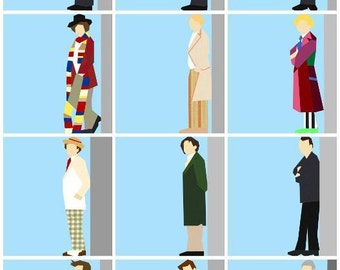 Doctor Who Paper Pieced Quilt Pattern Bundle PDF Download - All 12 Doctors