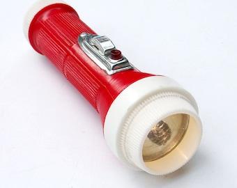 Red Industrial Plastic Flashlight Signal Button Survival Gear