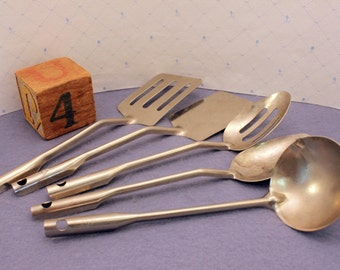 Vintage Toy Cooking Utensil Kitchen Set of 5 Play Dishes