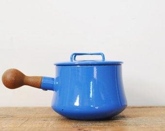 Vintage Dansk 1.5 Quart Blue Sauce Pan