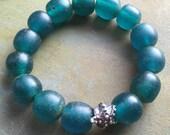 SALE - starfish bracelet mediterranean blue by forgivingworks