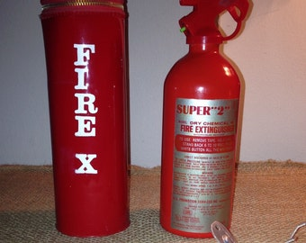 Retro Fire Extinguisher in Red Case