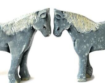 Wooden Noahs Ark Pair of Horses