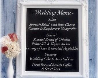 """WEDDING SIGNS CHALKBOARD Wedding Decor Sign Shabby Chic Wedding Decorations Restaurant 31""""x27"""" Reception Signs Baroqu Chalk board"""