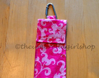 READY TO SHIP - Thieves Pouch for Hand Gel or Spray - Pink Swirls