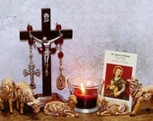 Unbreakable Relic Chaplet of St. Agnes of Rome - Patron Saint of Gardeners, Betrothed Couples, Girls, Girl Scouts, Virgins and Rape Victims