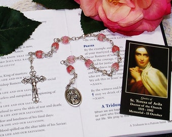 Unbreakable Catholic Chaplet of St. Teresa of Avila - Patron Saint of Lace Makers, Headache Sufferers and People in Religious Orders