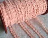 Vintage Pink Lace Trim/ Ballet Dolls Home Furnishings / 5 Yards / Vintage Wedding NOS
