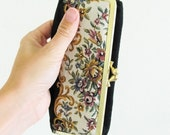 40% OFF SALE Vintage VICTORIAN Rose Makeup Case / Double Mirror Eyeglass Container Made in Japan