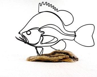 Sunfish Wire Sculpture, Fish Wire Art, Fish Art, 291975401