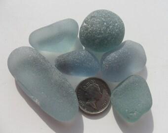 Blue Grey -  Beautiful English Seaham Sea Glass - Free Shipping (4827)
