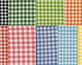 Gingham Check OilCloth, Yardage