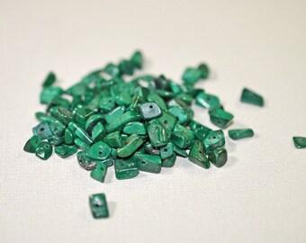 Malachite/azurite chips, drilled - #1281