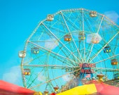 Coney Island Art, Fine Art Photography, Brooklyn, New York City, Home Wall Art, Carnival Decor, Ferris Wheel, Kids Room Art, Nursery Decor