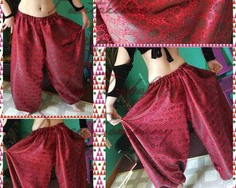 Red and Black Brocade 4yd Pantaloons
