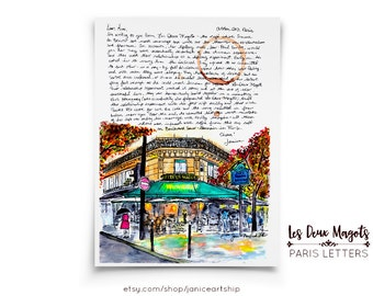 Les Deux Magot: Paris Letters, October, A letter about Simone de Beauvoir and her ritual of meeting her lover Jean-Paul Sartre for coffee