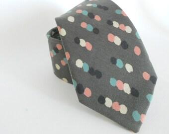 Grey Swatch Dots Necktie