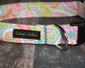 "Dog Collar, Dog Collars, Paisley Dog Collar, Girl Dog Collar, Female Dog Collar, Trendy Dog Collar,  ""The Dani"""