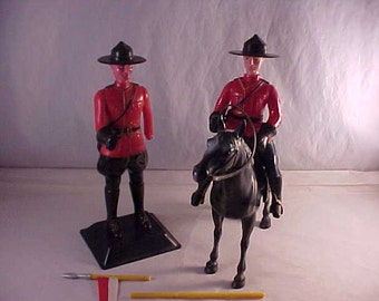 Hard Plastic Royal Canadian Mounties Souvenir Toys