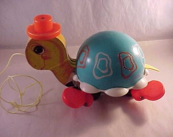 1962 Fisher Price Toys Turtle Pull Toy