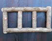 Rustic Cedar Twig Triptych Picture Frame 4x6