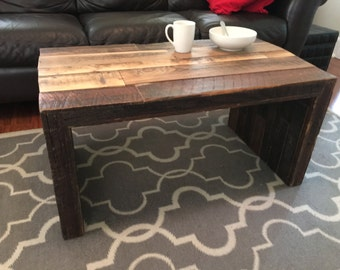 Reclaimed Wood Coffee Table, Driftwood Table, Barn Wood Table, Coffee Table