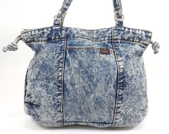 90s Stonewashed Denim Hobo Bag