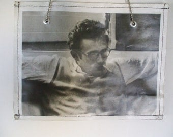 James Dean - Hollywood Rebel  - 1950's Pics -  Women's Tote - Made of Laminated Recycled Paper , SZ Large / Handcrafted/ Free Shipping USA