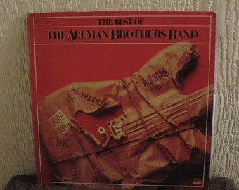 Allman Brothers Band record - The Best Of  the Allman Bros - Origianl - Vintage record lp in Near MInt Minus Condition -
