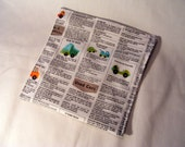 fabric scrap - newsprint