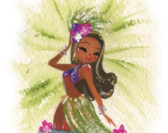 Violet Tiny Tahitian fine art mini print
