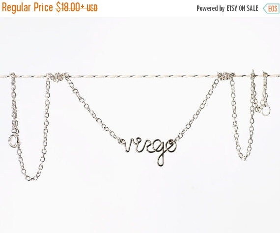 Virgo Necklace - Silver Astrological Sign Jewelry