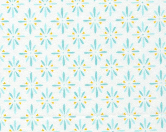 Organic FLANNEL Fabric - Cloud9 Flannel - Burst Turquoise