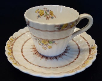 Copeland Spode Demitasse Cup and Saucer Buttercup Pattern