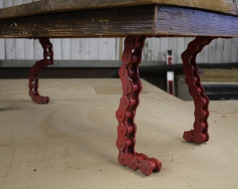 runaway reclaimed wood and chain coffee table