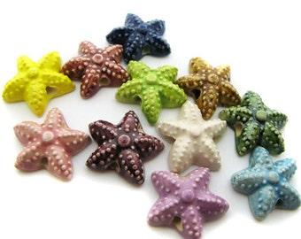 4 Large Starfish Beads - LG