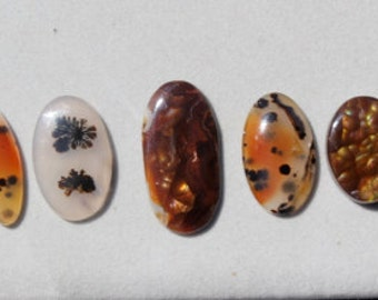 U-Pick bracelet stones, montana agate, dendritic agate, fire agate, moonstone, plume agate, natural stone cabs, focal stones, DIY jewelry