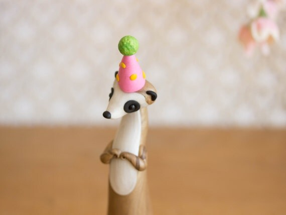 Meerkat Birthday Cake Topper - Meerkat Figurine by Bonjour Poupette
