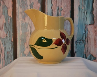 Vintage Watt Pottery Tulip Pattern #16 Pitcher