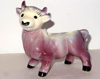 Purple Steer Porcelain Planter Home and Garden Lawn and Garden Gardening Pots and Planters