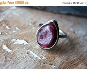 MOVING SALE... Drusy, Sterling Silver Cocktail Ring... Size 7, Size 7.5... Kismet...