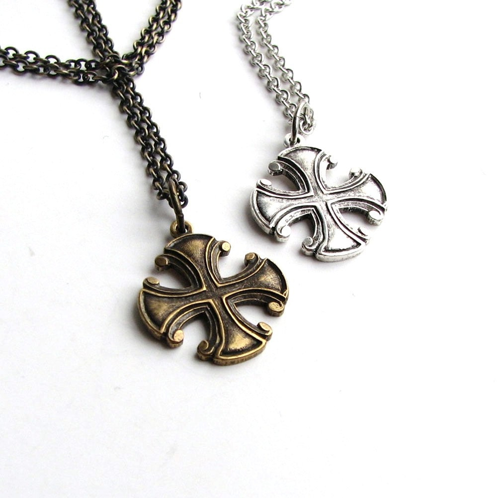unisex iron cross necklace maltese cross necklace choose