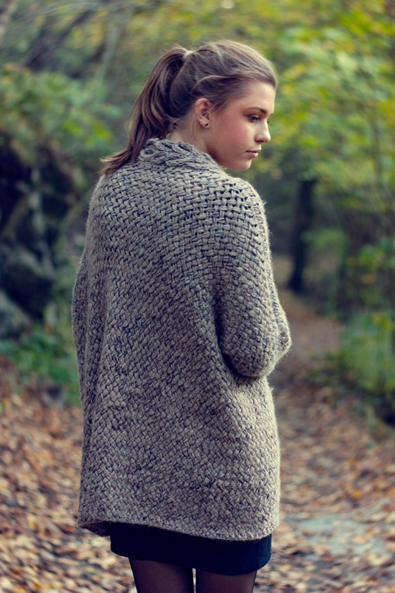 KNITTING PATTERN - Dreamy Weave Cardigan - Relaxed Fit ...