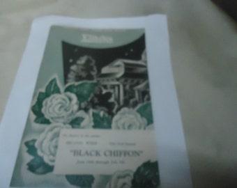 Vintage Elitch's Black Chiffon Theatre Program, collectable