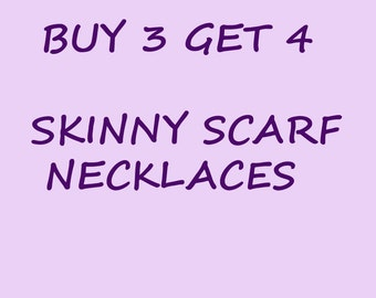 Skinny scarf necklace crochet chain scarf summer scarf loop scarf circle scarf boho scarf