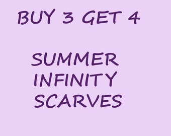 Summer infinity scarves but 3 get 4 Christmas gift holiday gift coworkers gift for her
